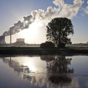 Kivihiilivoimala Petershagenissa Saksassa.