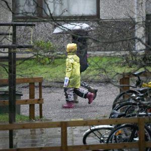 Espoon Suvelassa satoi keskiviikkona 15. tammikuuta.