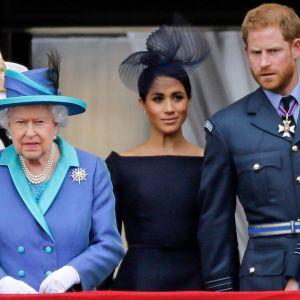 Kuninkaallista perhettä Buckinghamin palatsin parvekkeella 2018.