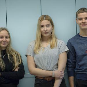 Tuli Teräsaho, Monica Plaoum ja Karlos Kemppaala.