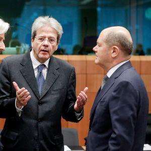 Christine Lagarde, Paolo Gentiloni ja Olaf Scholz