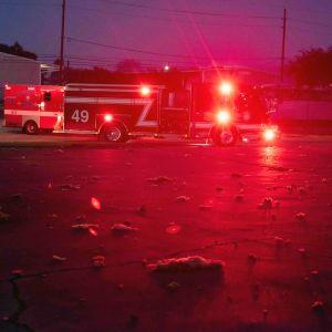 Paloautoja räjähdyspaikalla Houstonissa.