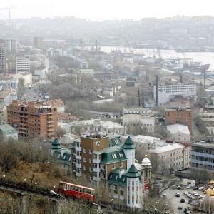 Kaupunkinäkymä Vladivostokista.