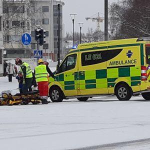 Liikenneonnettomuus Rovaniemen Hallituskadulla 28.1.2020.