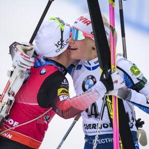 Tiril Eckhoff ja Kaisa Mäkäräinen