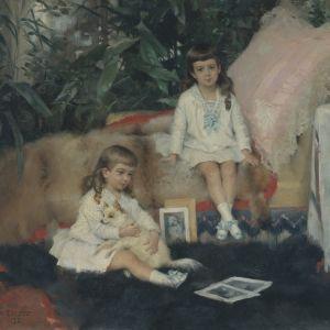 Suuriruhtinaat Kirill ja Boris Vladimirovitš lapsina, 1881