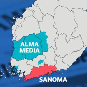 Alma media kartalla siirtyy Sanoman omistukseen