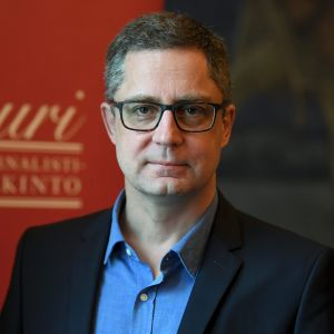 Vuoden journalistiehdokas Antti Kuronen.