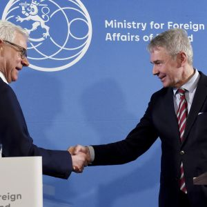 Puolan ulkoministeri Jacek Czaputowicz ja ulkoministeri Pekka Haavisto