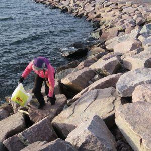 Inkeri Pekkanen on siivonnut Hangon saaria ja rantoja jo vuosien ajan.