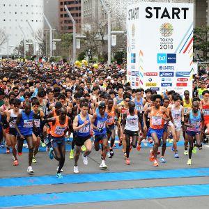 Kuvaa Tokion maratonilta
