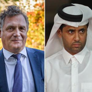 Jerome Valcke ja Nasser Al-Khelaifi