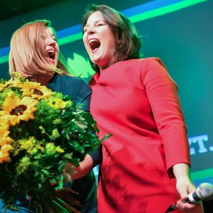 Katharina Fegebank ja  Annalena Baerbock