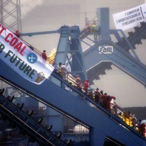 Aktivistitempaus Saksan Datteln 4:ssä.