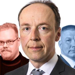 Asseri Kinnunen, Toni Jalonen, Jussi Halla-aho, Juha Mäenpää ja Ano Turtiainen.