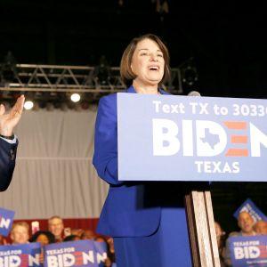 Joe Biden ja Amy Klobuchar