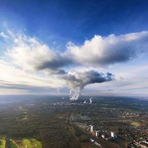 Hiilivoimala Ruhrin alueella Saksassa.