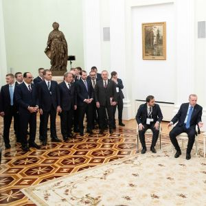 Presidentit Recep Tayyip Erdoğan ja Vladimir Putin tapaavat Moskovassa torstaina.