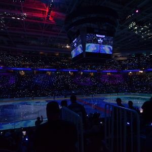 NHL-katsomo San Josessa.