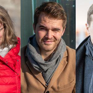 Minna Halme, Perttu Pölönen ja Timo Järvensivu.