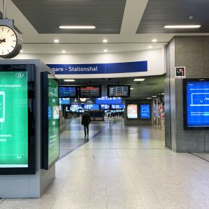 Brysselin Gare du Midi juna-asema, josta lähtevät junat Lontooseen ja Pariisiin.
