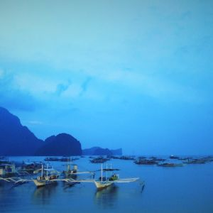 El Nidon kaupungin satama Filippiinien Palawanin saarella