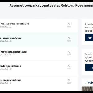 Kuvakaappaus duunitori.fi -sivustolta