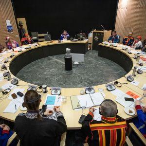 Sámedikki ortniiduvvančoahkkin, Saamelaiskäräjät, Sámediggi, Saamelaiskäräjien järjestäytymiskokous.