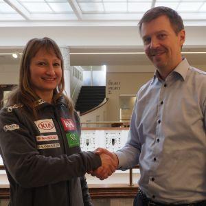 Tanja Poutiainen-Rinne ja Janne Leskinen.