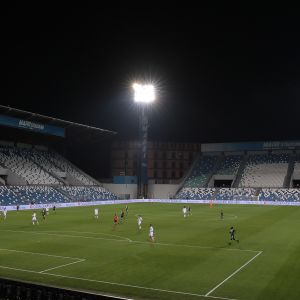 A general view of play in the empty stadium after rules to limit the spread of Covid-19 were put in place for the Serie A match between US Sassuolo and Brescia Calcio at Mapei Stadium - Citta del Tricolore on March 9, 2020 in Reggio nell'Emilia, Italy (Photo by Emilio Andreoli/Getty Images)