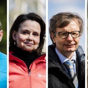 Kuvassa ovat Kaarlo Simojoki, Päivi Nykyri, Heikki Hiilamo ja Anna Rotkirch.