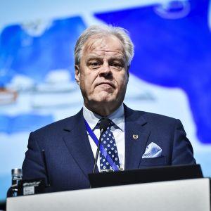Kuvassa on OAJ:n puheenjohtaja Olli Luukkainen.