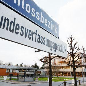 Saksan perustuslakituomioistuin toimii Karlsruhessa.