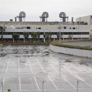 Nissanin tehdas Barcelonassa, Espanjassa.