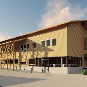 Saaren koulu maksaa lähes 10 miljoonaa euroa, ja on Pyhäjoen suurimpia investointeja