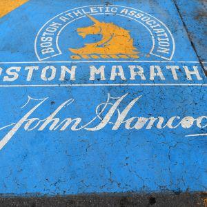 Bostonin maratonin maalialue vuonna 2020
