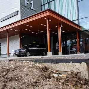 Kuvassa on Kainuun uusi sairaala.