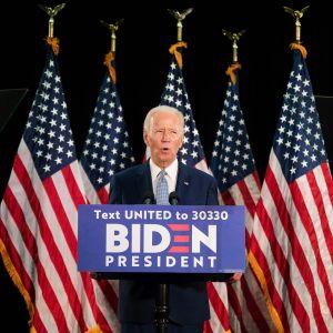 Kuvassa on presidenttiehdokas Joe Biden.