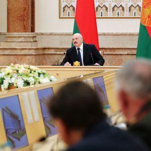 Kuvassa on Alexander Lukashenko.