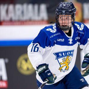 Vilma Tanskanen EHT-turnauksessa Hakametsässä vuonna 2017.