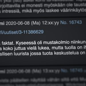 Kuvakaappaus Torilauta keskustelufoorumilta.