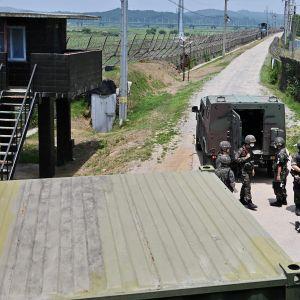 Kuvassa on Koreoiden raja.
