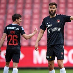 Tim Sparv Midtjylland ystävyysottelussa toukokuussa 2020