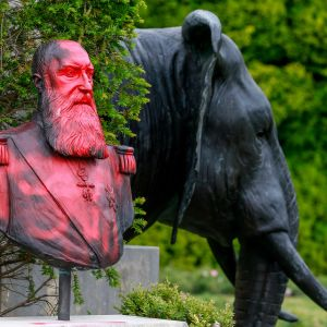 Kuningas Leopold II patsas Bryssel
