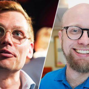 Puoluesihteerit Antton Rönnholm ja Veli Liikanen