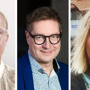 Kuvassa ovat Pauliina Hulkko, Jari Perkiömäki ja Eeri Pihlajakari.