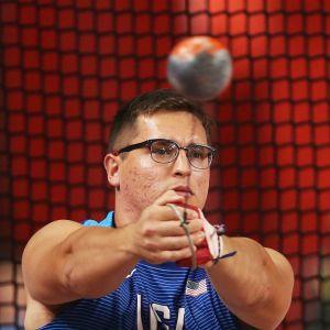 Rudy Winkler MM-Dohan moukarihäkissä 2019