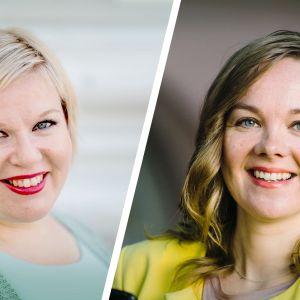 Keskustan Annika Saarikko ja Katri Kulmuni.