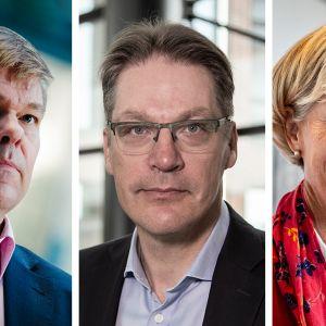 Mikko Mursula, Risto Murto ja Satu Huber.