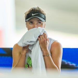 Elina Svitlovina pelaamassa Saksassa Andrea Petkovicia vastaan